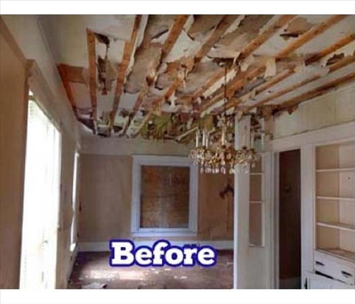 Fire Restoration Process Before