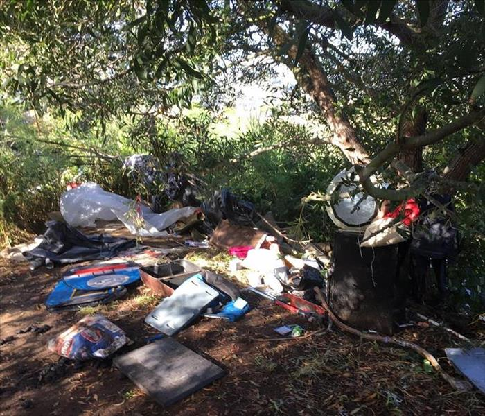 Homeless encampment in San Rafael